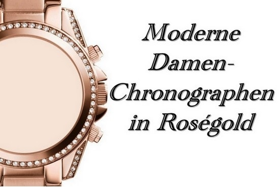 Damen-Chronographen in Roségold